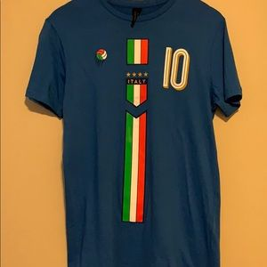 (Free w/ Purchase)BLUE ITALY/ITALIA SOCCER T-SHIRT